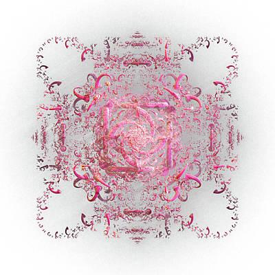 Digital Art - Indulgent Pink Lace by Rosalie Scanlon