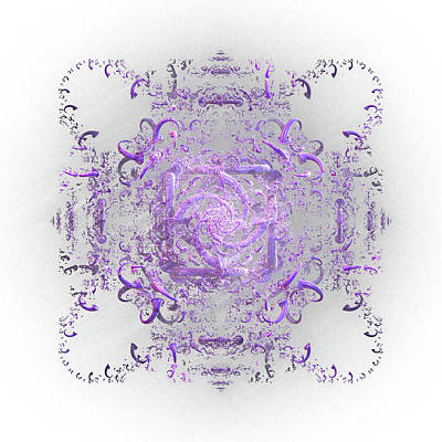 Digital Art - Indulgent Purple Lace by Rosalie Scanlon