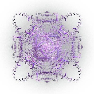 Digital Art - Indulgent Purple Lace by Rosalie Scanlon