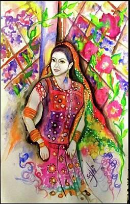 Syeda Ishrat Painting - 'indus Valley Girl' by Syeda Ishrat