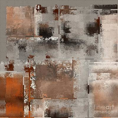 Contemporary Abstract Digital Art - Industrial Abstract - 01t02 by Variance Collections