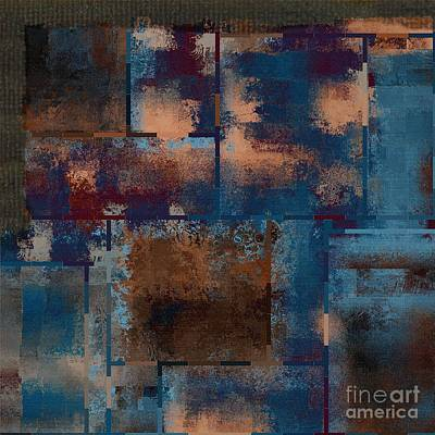 Turquoise Abstract Art Digital Art - Industrial Abstract - 15t03 by Variance Collections