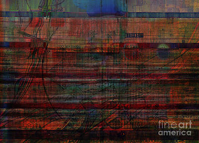 Inferno Digital Art - Industrial Abstract 9 by Andy  Mercer