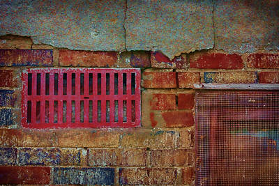 Photograph - Industrial Abstract - Grate And Screen by Nikolyn McDonald