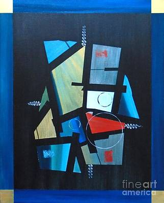 Painting - Industrial Abstractica Blue 1 by John Lyes