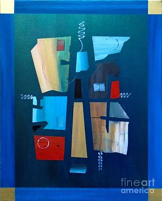 Painting - Industrial Abstractica Blue 2 by John Lyes