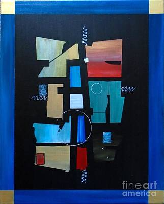 Painting - Industrial Abstractica Blue 3 by John Lyes