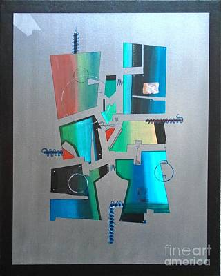 Painting - Industrial Abstractica Grey 1 by John Lyes
