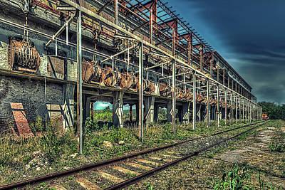 Photograph - Industrial Archeology Railway Silos - Archeologia Industriale Silos Ferrovia by Enrico Pelos
