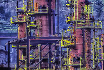 Photograph - Industrial Archeology Refinery Plant 04 by Enrico Pelos