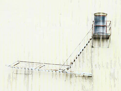 Photograph - Industrial Art Fire Escape by Carol Leigh