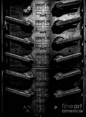 Photograph - Industrial Circuit Breakers by James Aiken