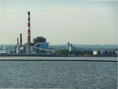Photograph - Industrial Coastline Of Bridgeport Ct by Margie Avellino