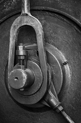 Gear Photograph - Industrial Detail by Carlos Caetano