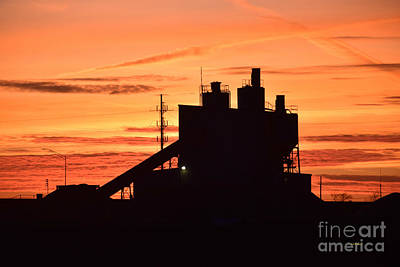 Photograph - Industrial Dusk by Kathy M Krause