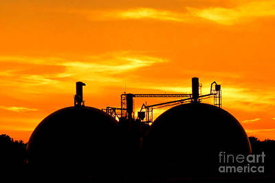 Photograph - Industrial Dusk by Olivier Le Queinec