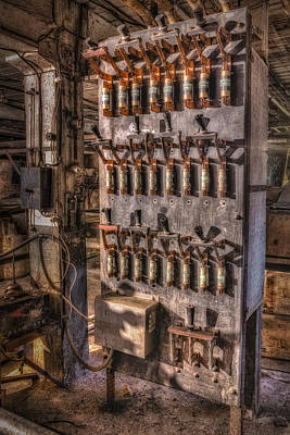 Photograph - Industrial Electrical Panel II by Susan Candelario