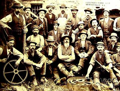 Unicorn Dust - Industrial Factory Workers Stringer Bar and Company Munnsville New York 1886 by Anonymous