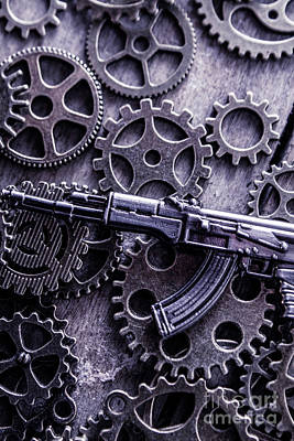 Terrorism Photograph - Industrial Firearms  by Jorgo Photography - Wall Art Gallery