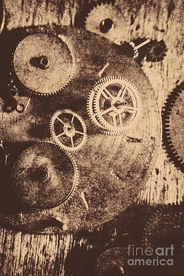 Machinery Photograph - Industrial Gears by Jorgo Photography - Wall Art Gallery