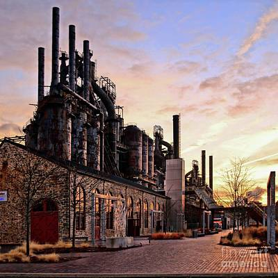 Art Print featuring the photograph Industrial Landmark by DJ Florek