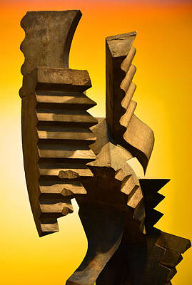 Photograph - Industrial Looking Sculpture by Mike Martin