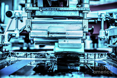 Electronic Photograph - Industrial Metal Printing Machinery. by Michal Bednarek