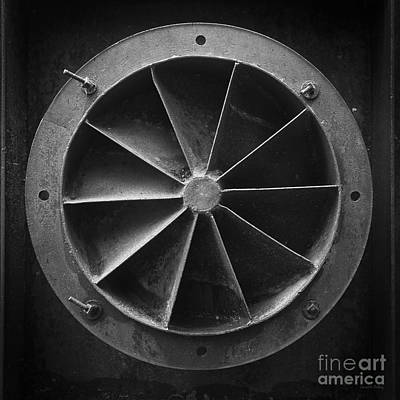 Mining Photograph - Industrial Mining Equipment Black And White by Edward Fielding