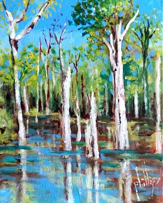 Painting - Industrial Park Swamp by Jim Phillips