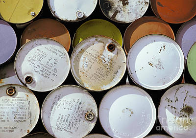 Photograph - industrial photography abstract - Industrial Drums by Sharon Hudson