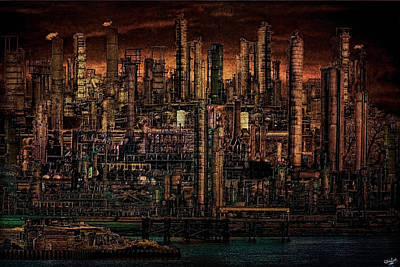 Digital Art - Industrial Psychosis by Chris Lord