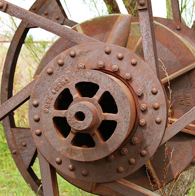Photograph - Industrial Reel by Art Block Collections