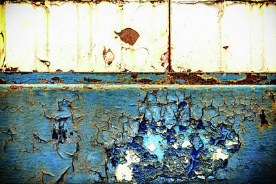 Photograph - Industrial Rust On Blue Metal by John Williams