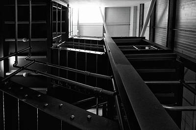 Photograph - Industrial Stairs by Roger Lighterness
