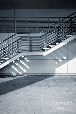 Aluminum Outdoor Photograph - Industrial Stairway by Carlos Caetano