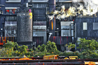 Photograph - Industrial Steel 24 by Stewart Helberg