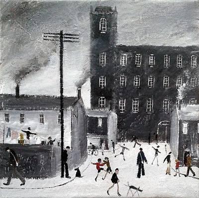 Industrial Painting - Industrial Street Scene by Walker Scott British Industrial Northern Art