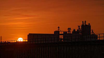 Photograph - Industrial Sunset by Jonathan Davison