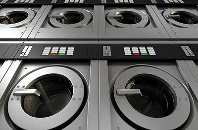 Industrial Washing Machine Art Print by Allan Swart