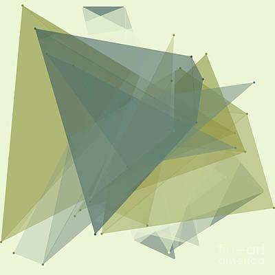 Industry Polygon Pattern Print by Frank Ramspott