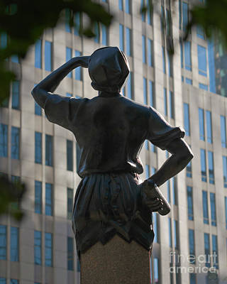 Photograph - Industry Statue Charlotte Nc by Patrick M Lynch