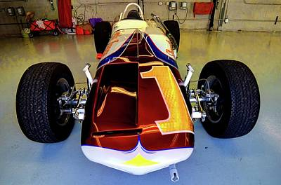 Photograph - Indy 500 Watson Roadster 1964 by Josh Williams