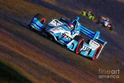 Photograph - Indy Car Marco Andretti 2017 by Blake Richards