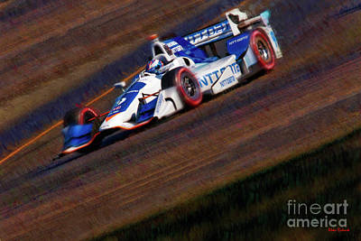 Photograph - Indy Car Scott Dixon 2017 by Blake Richards