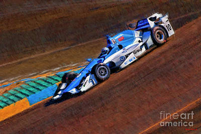 Photograph - Indy Car Tony Kanaan   by Blake Richards