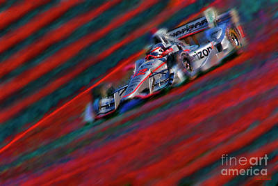 Photograph - Indy Car Will Power 2017 by Blake Richards
