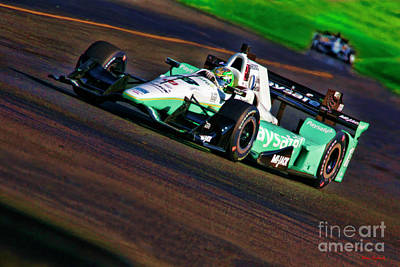 Photograph - Indy Car Zachary Claman Demelo by Blake Richards