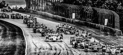 Photograph - Indy Cars by Michael Nowotny