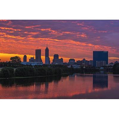 Skyscrapers Wall Art - Photograph - #indy #indiana #indianapolis by David Haskett II
