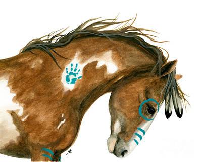 Indy Pinto Horse Art Print